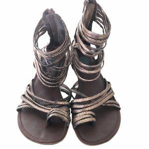 LA girl gold gladiator sandals